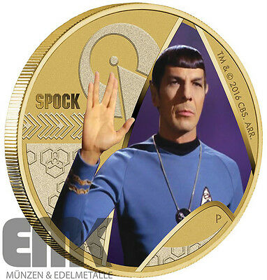 Tuvalu - 1 Dollar 2016 - Mr. Spock -Star Trek- Bronze Farbe in Stempelglanz