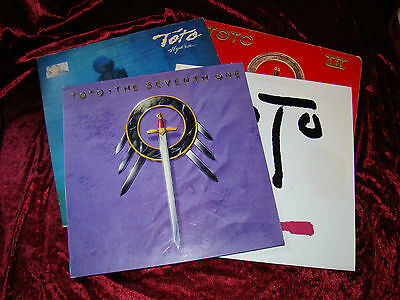 """Vinyl 12"""" Lot TOTO LP THE SEVENTH / ONE TURN BACK / HYDRA / IV Spain & Holland"""