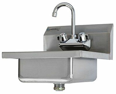 Commercial Stainless Steel Wall Mount Hand Washing Sink w/ Faucet, New, Free Shi