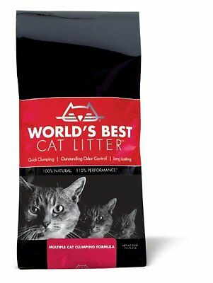 Worlds Best Cat Litter Multiple Cat Clumping Formula Red bag 12.7kg FAST