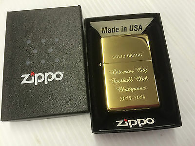 Leicester City Champions 2015-16 Polished Brass Genuine Zippo Lighter
