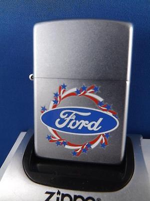 Zippo Lighter Ford Americana Circle Emblem  2004 Sealed New  Car Collector