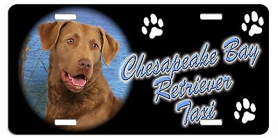 Chesapeake Bay Retriever Taxi Line License Plate ((SPECIAL LOW CLEARANCE PRICE))