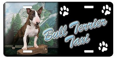 Bull Terrier  Taxi Line License Plate (((( SPECIAL LOW CLEARANCE PRICE ))))