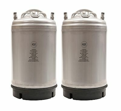 Homebrew 2 Pack Kegs - New 3 Gallon Ball Lock Kegs w/Relief Valve - SHIPS FREE