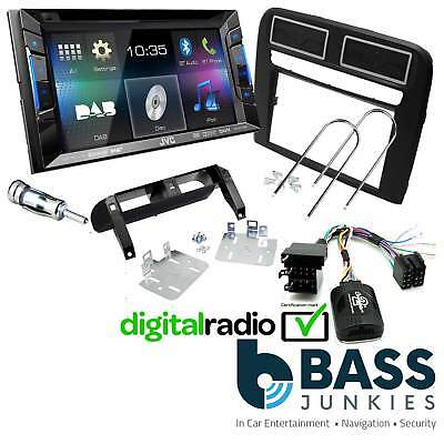 Fiat Grande Punto L.H.D KW-V215DBT DVD DAB BT Car Stereo & SWC Double Din Kit
