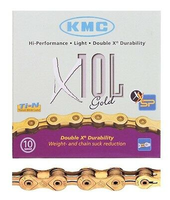 KMC X10L Bicycle Chain (Silver, 1/2 x 11/128 - Inch, 116 Links)