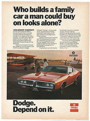 Vintage 1972 Dodge Charger Print Ad Muscle Car Advertisement