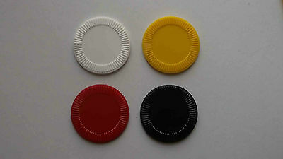 250 - New White, Yellow, Red and Black Plastic Stackable Poker Chips