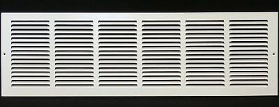 30 X 6 Return Grille Easy Air Flow Flat Stamped Face