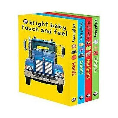 Bright Baby Touch & Feel Set 1-4 by Roger Priddy (Board Books)
