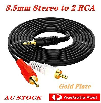3.5mm Male to 2RCA Male Stereo Audio Cable AUX for Ipod