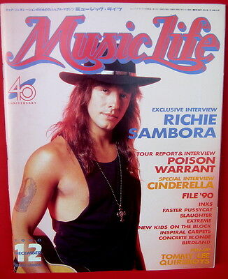 Music Life Japan magazine 12/ 1990 Richie Sambora Bon Jovi Poison Warrant Inxs