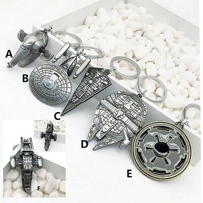 NEW STAR WARS keychain keyring alloy metal Collectible Millennium Falcon