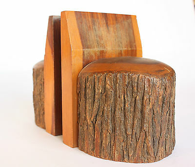 Vintage Mulga Wood Bookends