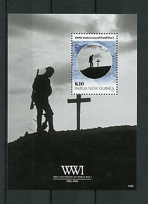 Papua New Guinea 2014 MNH WWI 100th Ann 1v S/S World War I Soldiers Stamps
