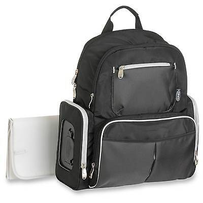 Graco Gotham Backpack Diaper Bag - Black & Gray