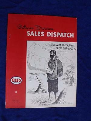 Imperial Esso Ontario Division Sales Dispatch Gas Service Employee Info Book