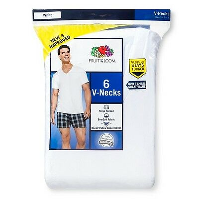 Fruit of the Loom ® - Men's 6pk V-Neck White