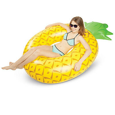 Big Mouth Giant Pineapple Pool Float Inflatable Fruit Swimming Lounger