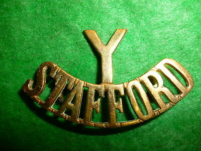 The Y/Staffordshire Yeomanry Brass Shoulder Title Badge, Westlake 225