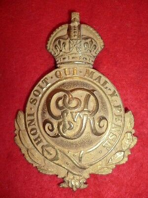 George V Gilt Officer's Martingale Badge with wreath