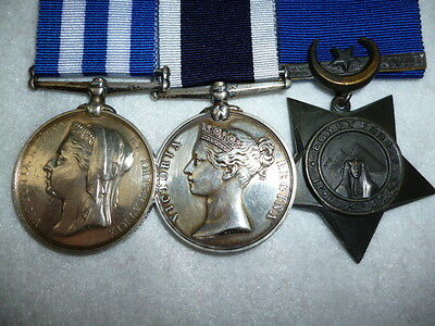 "Egypt Medal 1882 Group of (3) to H.M.S. ""Briton"", to a Commissioned Rating"