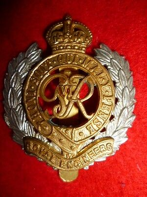 Royal Engineers WW2 George VI Cap Badge, Post WW2, KK 1940