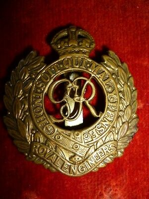 Royal Engineers WW2 George VI Cap Badge, WW2