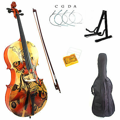Kinglos 4/4 Full Size Colored Solid Wood Student Cello Kit