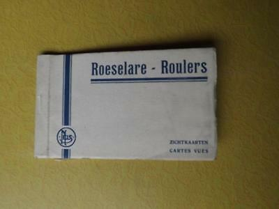 Postcard Booklet Roeselare Roulers Belgium City Vintage 7 Cards City Market