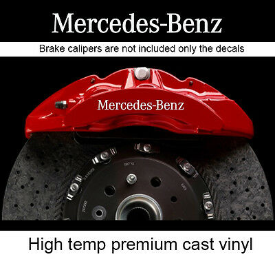 Set of 6 X brake caliper decal sticker compatible with Mercedes Benz