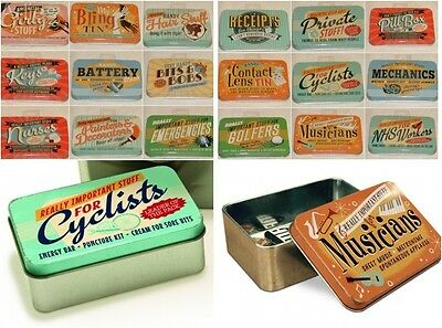 Retro Style Vintage Tins- Storage. Tins For really Important Stuff