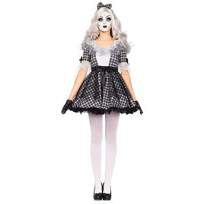 Broken Doll Costume Adult Creepy Halloween Fancy Dress
