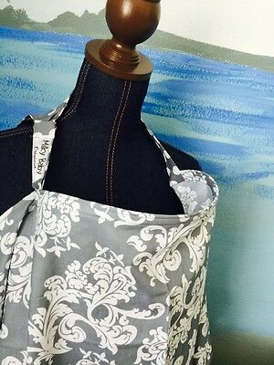 NEW  >NURSING COVER  hider* BREASTFEEDING COVER Up Gray Scroll