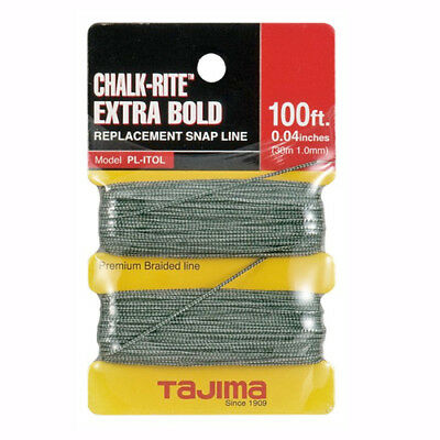 TAJIMA PL-ITOL Chalk-Rite Extra Bold Braided LIne, 1.0 mm x 30m / 100 ft