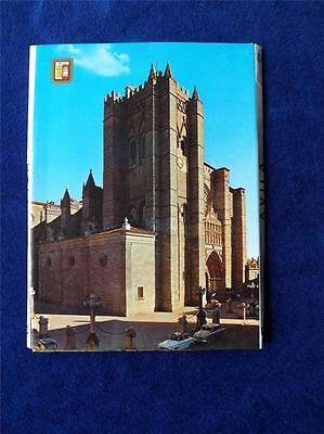 Avila Spain Postcard Fold Out Booklet Cathedral Castle