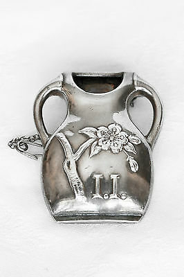 Antique Sterling Tussie Mussie, Posey Flower Holder,Vase and Pin,Original