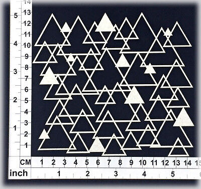 Chipboard Embellishments for Scrapbooking, Cardmaking - Triangles 35158