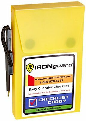 IRONguard 70-1070 Checklist Caddy for Propane Counterbalance, New, Free Shipping