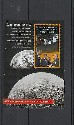 Grenadines Grenada 2012 MNH JFK's Historic Speech 1v S/S John F Kennedy Stamps