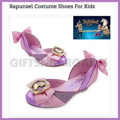 Disney Rapunzel  Shoes Tangled Girl Princess Birthday PartySlippers 1112 13 1