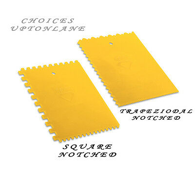 Dekor Plastic Square Or Trapezoidal Notched Tile Adhesive Spreader