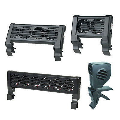 Aquarium Fish Tank Cooling Fans Chiller Clip On Tropical Marine 1, 2, 4, 6 Heads