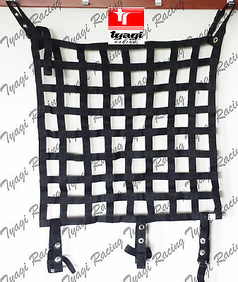 46x66 cm Black Race Safety Accessories Car/Rally/Racing/Motorsport Window Net