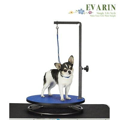 Pet Dog Cat Grooming Table Stand Adjustable Portable w/ Arm Loop Hair Cut Clip