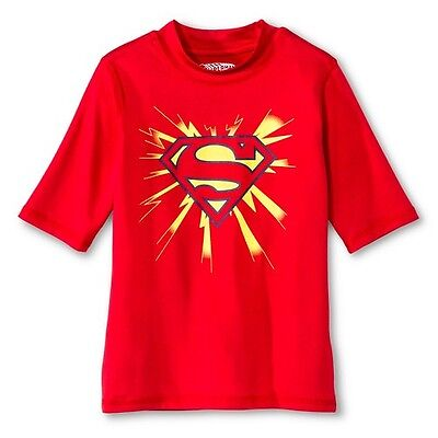 Boys' Superman Rashguard - Red