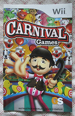 Nintendo Wii - Carnival Games (Manual billingual only)