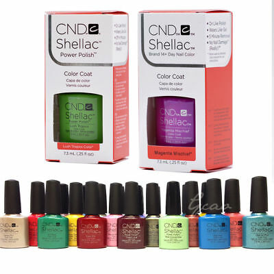 CND SHELLAC UV GEL COLOR Nail Polish Collection 2 Coat Pick Any Color