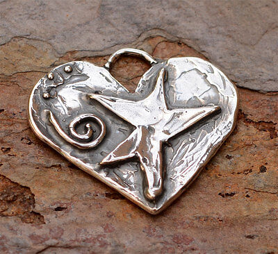 To Mom with Love Dancing Star on a Heart in Sterling Silver, AD460